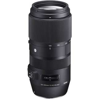 Sigma 100-400mm f/5-6.3 DG OS HSM Contemporary Lens for Canon and nikon