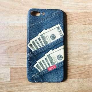 iPhone 7plus case denim money dollars