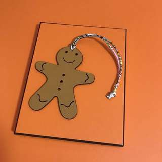 Hermes petit h gingerbread man bag charm two tone
