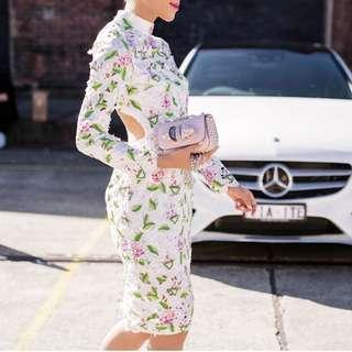 Asilio Floral Lace Up Dress RRP: $600
