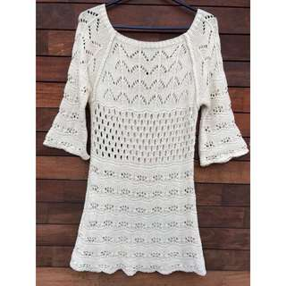 Cream Knitted dress size XS-S