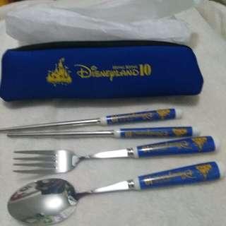 迪士尼餐具,叉,匙,筷子,一set