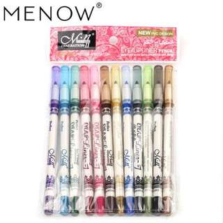 MENOW 12 Color Eye/Lip Liner