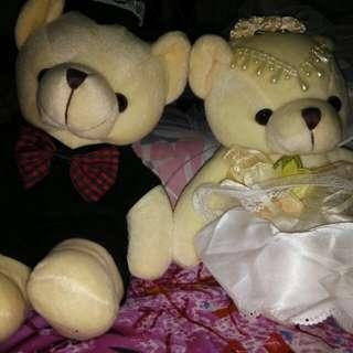 Boneka bear wedding cople