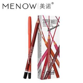 MENOW 12 Color Super Matte Lipliner