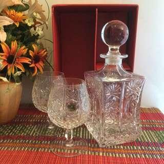 Vintage Italy RCR crystal decanter set