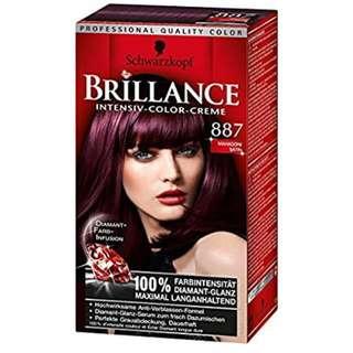 Black hair Schwarzkopf Brillance Color Cream Black Dye