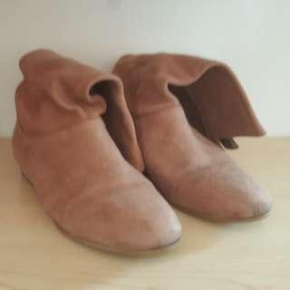 Tony Bianco Pony Tan Diesel Boots Size 6.5