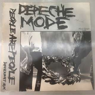 "Depeche Mode ‎– People Are People (Different Mix), 12"" Green Single Vinyl, Mute ‎– INT 126.820, 1984, Germany"