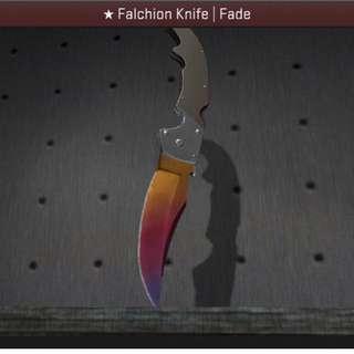 CSGO Falchion Knife Fade