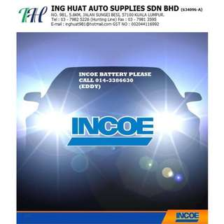 INCOE BATTERY MALAYSIA - PLEASE CALL OR WHATAPPS ME 014-3386630 (EDDY)