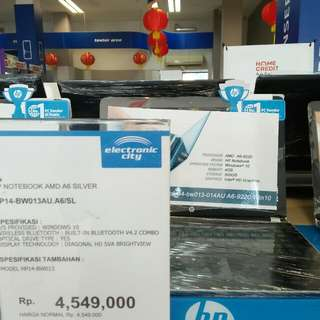 Kredit laptop HP free 1x angsuran