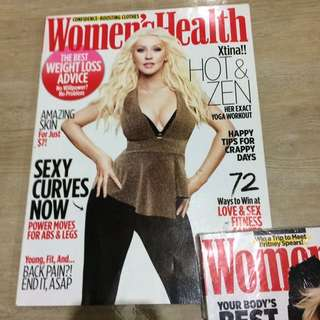 Women's Health Christina Aguilera cover