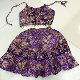 Sexy Girl Purple Batik