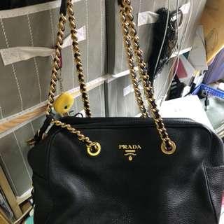 約6折出售 Prada 皮 手袋 超新 100%real