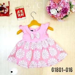 [READY STOCK]  🌸 Flower Ribbon Dress