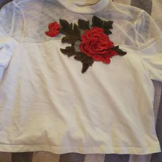 3d floral T-shirt