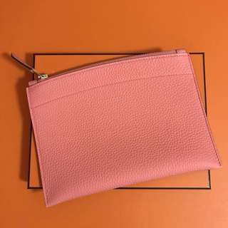 Hermes Bazar Clutch Pouch Candy Pink PM Togo