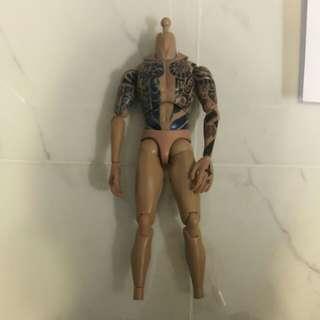 二手1/6 素體 body 紋身人手上色,粗玩ok