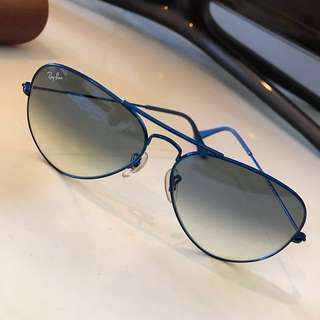 blue Rayban sunglasses