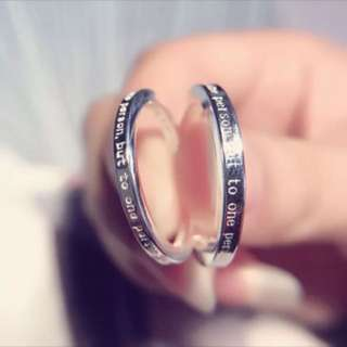 🐧香港正生s999情侶對戒chang sang sliver 999 couple rings