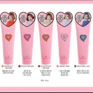 [3CE] Treatment Hair Tint In Baby Pink