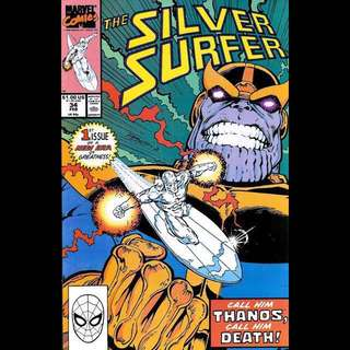 SILVER SURFER #34 (1990) Return of Thanos! Infinity Gauntlet