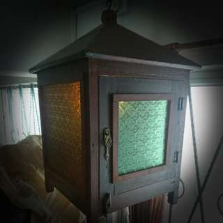 Vintage ceiling meat safe w light