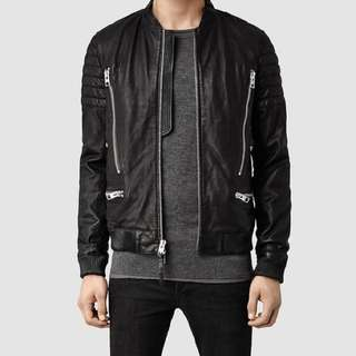 All Saints Sanderson leather jacket