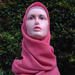 Square Daily Hijab Pink Series