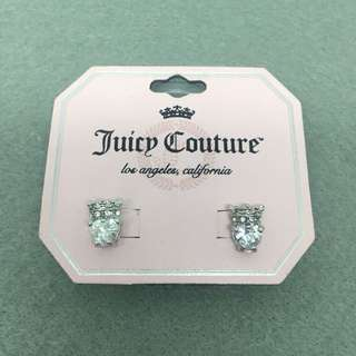 Juicy Couture Sample Earrings 925純銀針心心閃石皇冠耳環