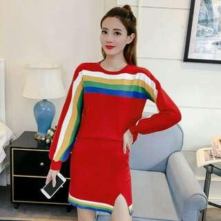 時尚拼色毛衣(兩件組) 有需要哪款請PO款示給我 尺寸:F 賴lucky2200(小培) FB:南部雜貨舖