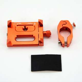 🆕! Orange Anodized Aluminum Hp Phone Holder  #OK