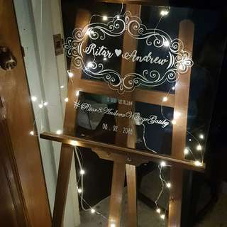 Customised Wedding Signs / Calligraphy / Event Props