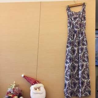 顯瘦挑高花長裙