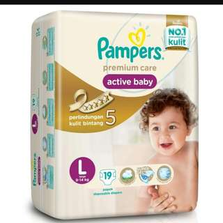 Pampers Premium Tape size L curah