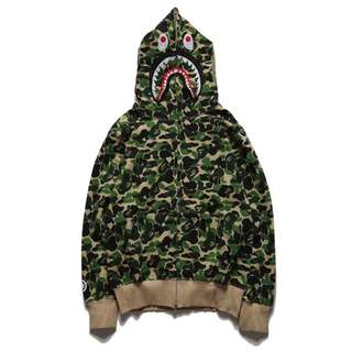 Bape Green Camo Jacket Pullover Hoodie Jackets Sweater