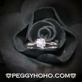 【Peggyhoho】 全新18K白金 ((單粒33份)) 閃爍鑽石戒指| 經典系列 |超值激抵