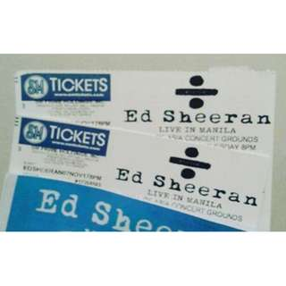 ED SHEERAN CONCERT TICKET