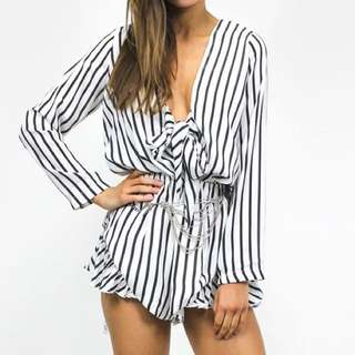 Lioness striped playsuit