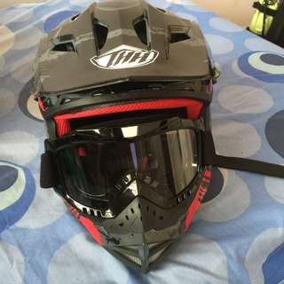 Thh Helmet with goggle Size L (59 to 60cm)