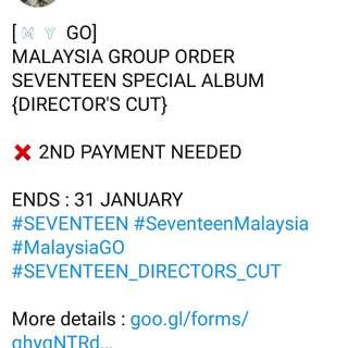 Seventeen Director's Cut album Group Order