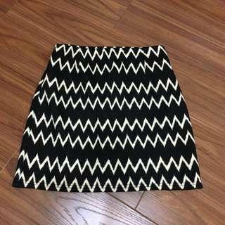 🚚 復古閃電樣式 高腰棉質短裙