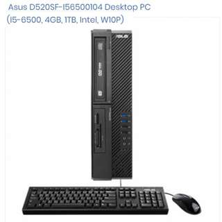 Asus D520SF-I56500104 Desktop PC (I5-6500, 4GB, 1TB, Intel, W10P)