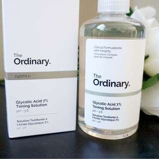 PRESELLING The Ordinary Glycolic acid 7% toning solution