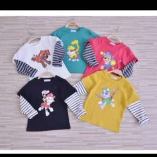 PO Paw Patrol Long sleeve set brand new size Available For 1-7yrs old while stock last !!