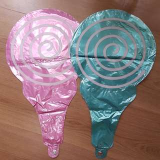 Lollipop foil balloon party birthday babyshower