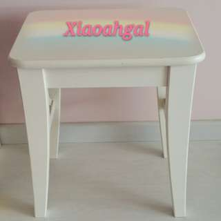 **RESERVE**🔴50% FOLLOWER SALES!🔴🌟NEW!!🌟◆45CM TALL & (38CM x 30CM) DIAMETER TOP◆ EUROPE COUNTRY SHABBY CHIC STYLE chair/stool! Clean Hse No pet No smoker