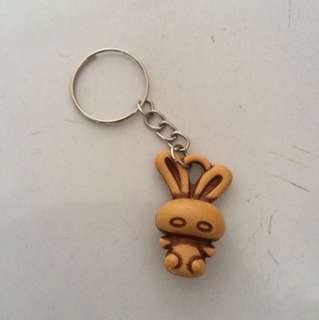 Wooden Rabbit keychain