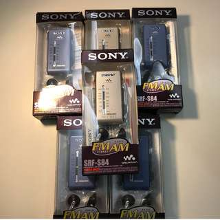 Sony SRF-S84 DSE Listening Radio (With box & earphone) (99% NEW) $460 EACH